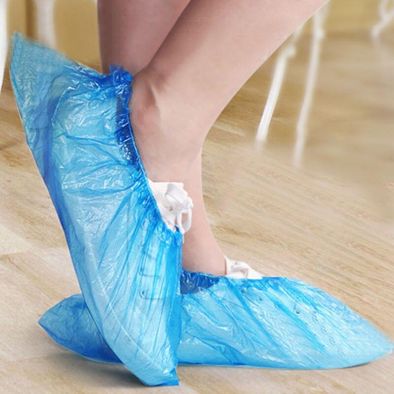 plástico overshoes segurança sapato cobre botas transporte rápido