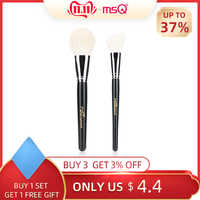 MSQ 2 stücke Große Ziegenhaar Pulver Make-Up Pinsel Rouge Contour Make-Up Pinsel Set Beauty Make-up-Tool