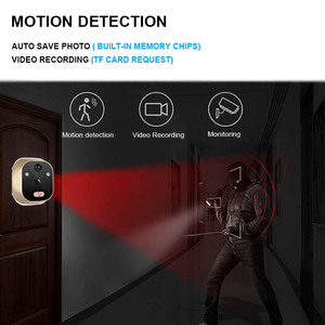 Image 2 - Topvico Video Door Viewer Motion Detection Electronic Peephole Ring Doorbell Camera Video eye Security Auto Photo Li Battery