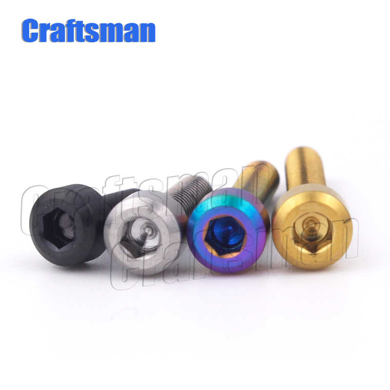 Titanium Baut M3 X 6 8 10 12 15 18 Mm M3 Titanium Hexagon Stigma Sekrup Ti M3 Kecil Baut perbaikan Sekrup Ti Pengikat 1Pcs