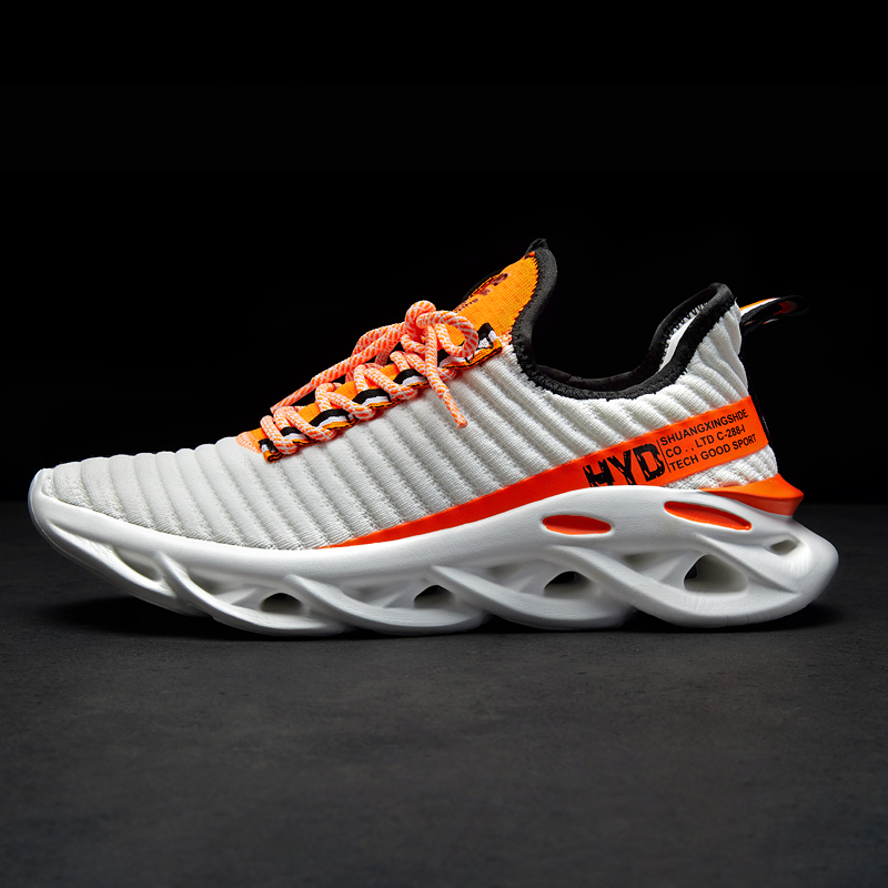 H817456cafc23402da1efa5daeecbfbcaJ Summer Trend Style Men's Casual Shoes 2019 New Fashion Breathable Mesh Light Personality Sneakers Flying Weaving Tenis Masculino