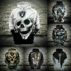 2020 latest 3D sweatshirt, boys' and girls' clothes, informal long sleeves, skull style. Fashion sweater, sports jacket, Hoodie