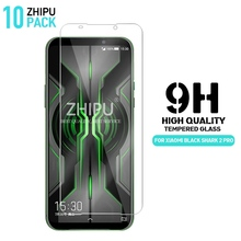 10 Pcs Tempered Glass For Xiaomi Black Shark 2 Pro Screen Protector 2.5D 9H Tempered Glass For Black Shark 2 Pro Protective Film pro 2 pcs purple