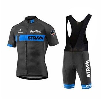 STRAVA-Ropa de Ciclismo para Hombre, conjunto de Jersey y Maillot, Ropa de...