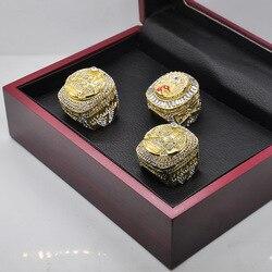 Fashion Crystal Basketball Star 2019 High Version Champion Ring Jewelry Basketball Fan Series Memorial Diamond Ring