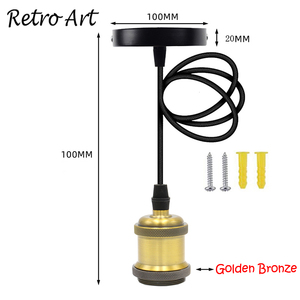 Image 2 - Simple Pendant Light Kit E27 Lamp Holder With Textile Cable Wire And Ceiling Rose lamp Cord Set