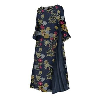 Womens Maxi Beach Dress 2019 Summer Half Sleeve Casual Boho Kaftan Tunic Gypsy Ethnic Style Floral Print Plus Size Dresses S-5XL 6