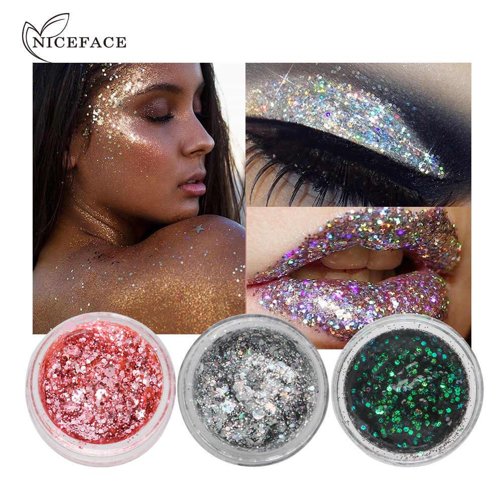 7 צבעים גליטר את צללים ג 'ל איפור יחיד צלליות פנים Jeweler גוף פאייטים שמר נוצץ פסטיבל קוסמטיקה TSLM1