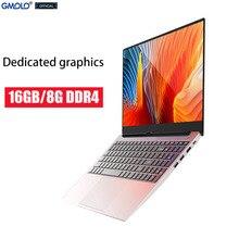 GMOLO новые 15,6 дюймов игровой ноутбук компьютер, посвященный Графика ГБ/8 ГБ/16 ГБ DDR4 Оперативная память SSD + HDD двойные диски металлический ультр...
