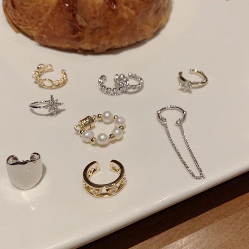 MENGJIQIAO hurtownie proste bez przekłuwania uszu Ear Cuff Micro Pave cyrkon śliczne klipsy dla kobiet Trendy kolczyk na chrząstkę biżuteria