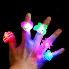 2020 Night Luminous Rings LED Flash Finger Cartoon Light Children's Party Toys for Kids Play Glow In The Dark for Kids Toys E