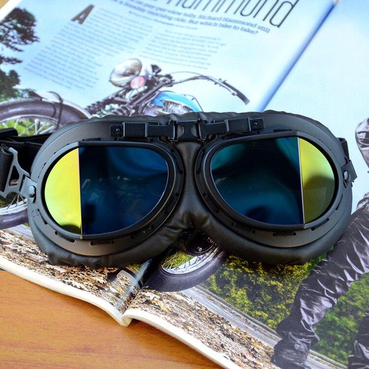 Motorcycle Locomotive Retro Eye-protection Goggles Outdoor Goggles World War II Pilots Helmet Decoration Bicycle Glass
