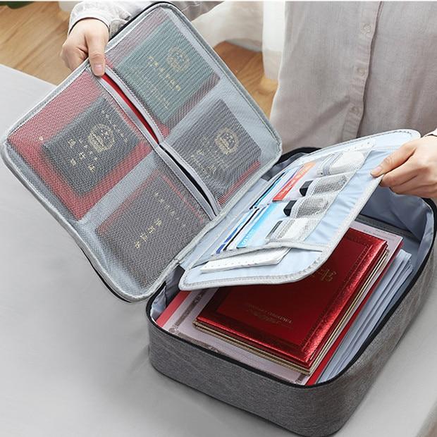 2020 Sharkbang New Waterproof Canvas Ultra-large Capacity File Folder Bag Document Certificate Organizer Storage Bag 37cm X 27cm