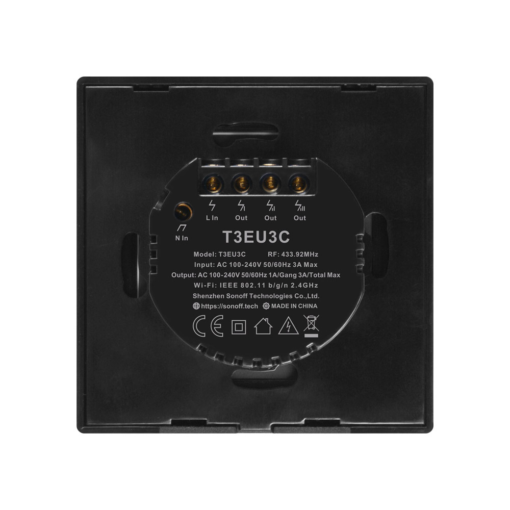 Image 4 - SONOFF T3 TX SmartSwitch Wifi Wall Touched Switch With Border Home  433 Remote RF/Voice/APP/Touching Control Work With Alexa EUHome Automation Modules   -