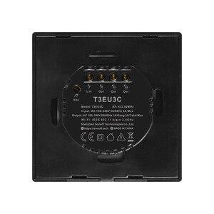 Image 4 - SONOFF T3 TX SmartSwitch Wifi ścienny przełącznik dotykowy z obramowaniem Home 433 zdalny RF/głos/APP/sterowanie dotykowe praca z Alexa EU