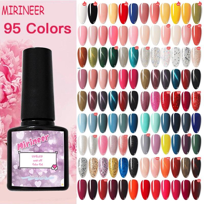 Гель-лак для ногтей Блестящий цветной