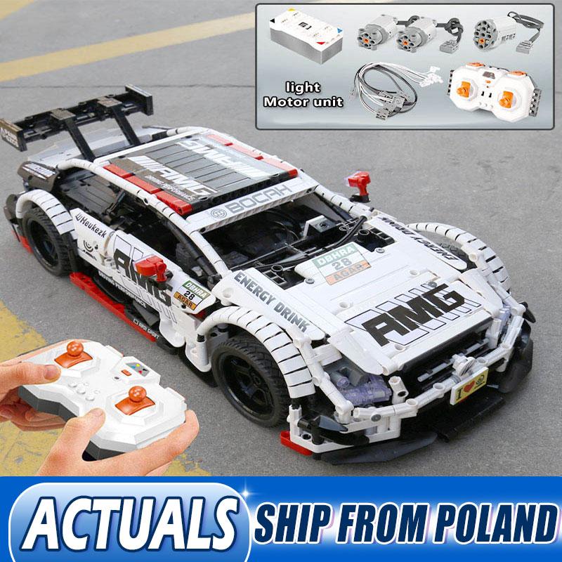 Technic Car Toys Remote Control Benzs MOC 6687 Model Kit Building Blocks Bricks Lepining AMG C63 Toys For Children Gift