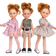35cm Baby Reborn Dolls Toys For Girls Dress Suit Full Silicone Body Reborn Bjd Dolls Freckle Pock Face Children's Toy Baby Gifts