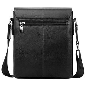 Image 3 - VICUNA POLO Vintage buzlu deri askılı çanta adam marka iş adamı çantası erkek omuz çantaları ön cep erkek çanta