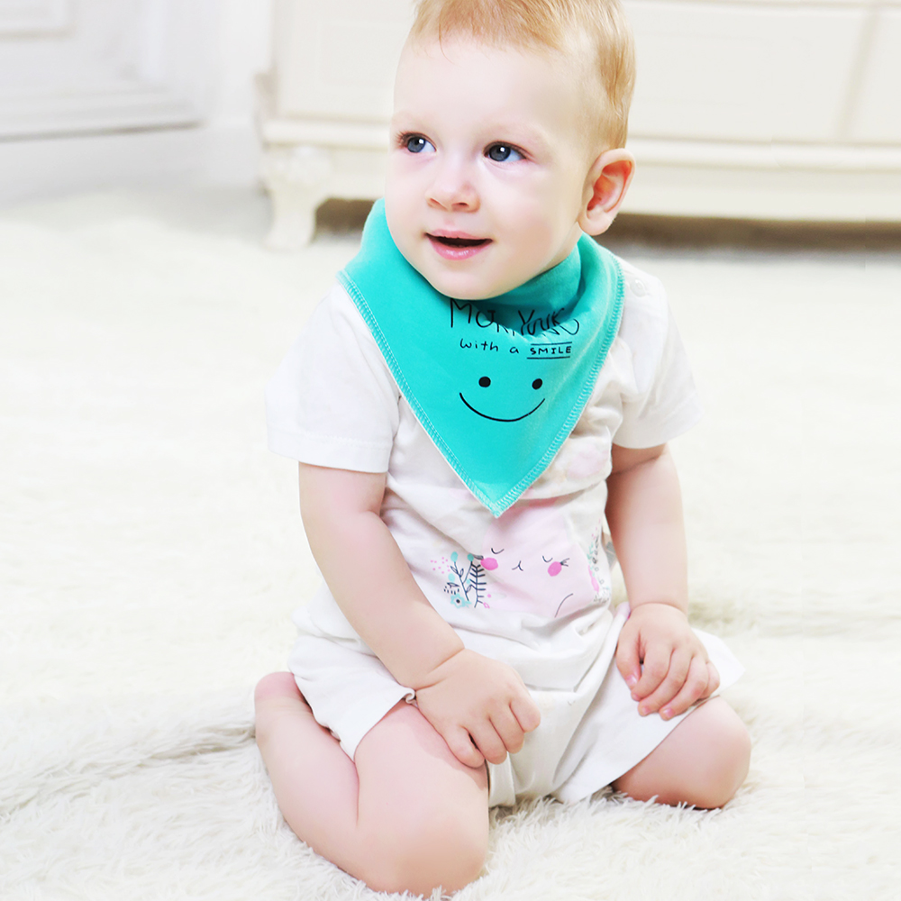Image 2 - 12 Pack / Lot 100% Cotton Bandana Bibs for Drooling Teething Newborn Infant Adjstable Snaps Absorbent Baby Bibs-in Bibs & Burp Cloths from Mother & Kids
