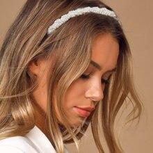 Женский обруч для волос с жемчужинами свадебный аксессуар 2020