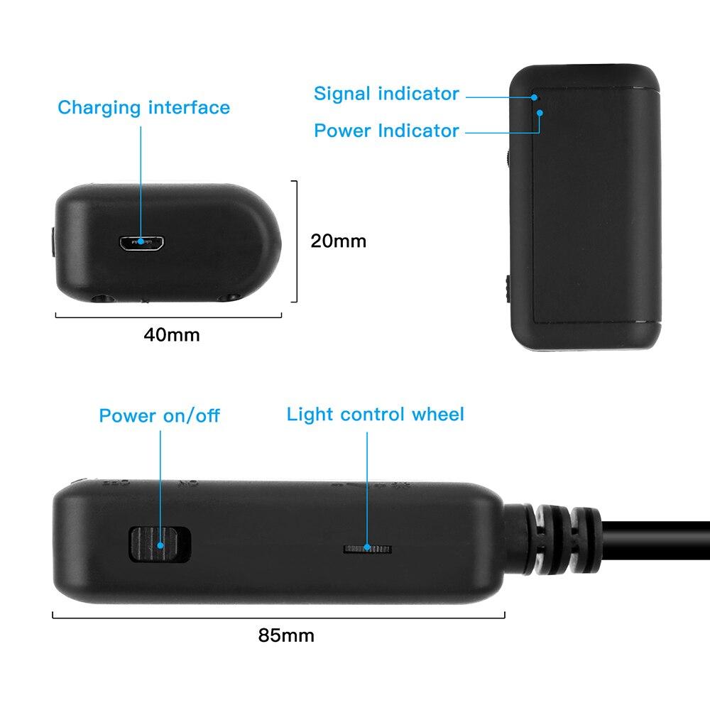 5,5 мм промышленный Wifi эндоскоп F220 WiFi бороскоп Инспекционная камера Встроенный 6 светодиодный IP67 Водонепроницаемый для iOS/Android смартфонов