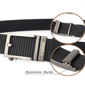 Image 5 - Cinturón de nailon con hebilla automática para hombre, cinturón masculino de alta calidad, con hebilla automática, 2020