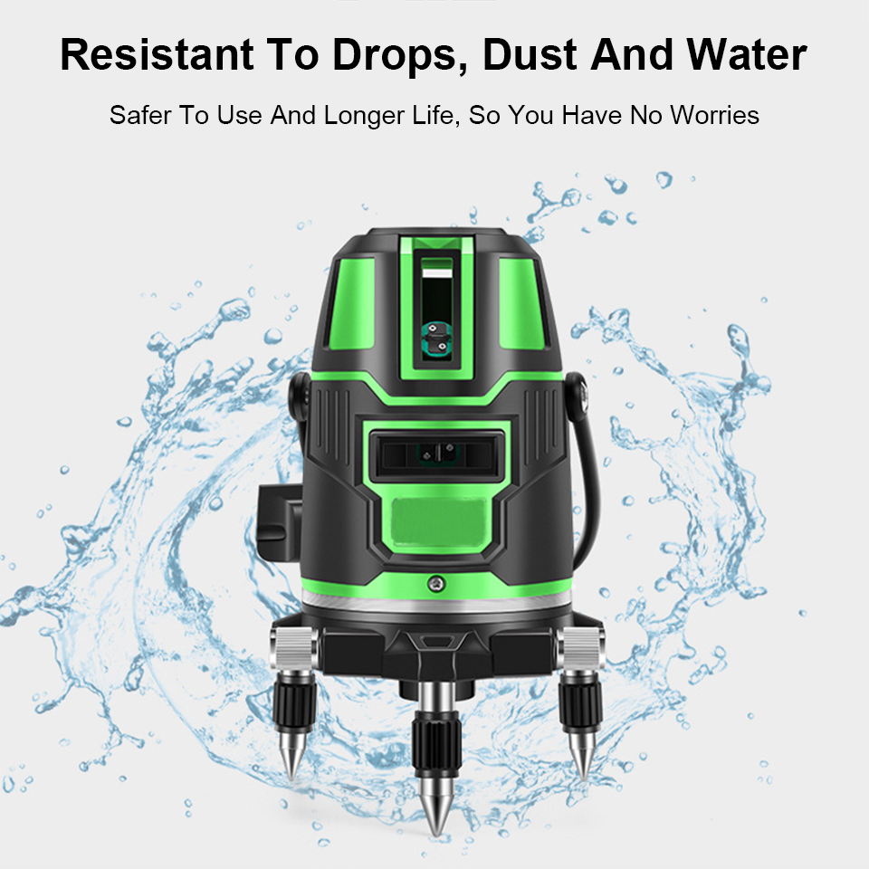Tools : 360 Laser Level Green Self-Leveling Horizontal And Vertical Cross 2 3 5 Lines Laser Leveling Device Tools with Box Dropshipping