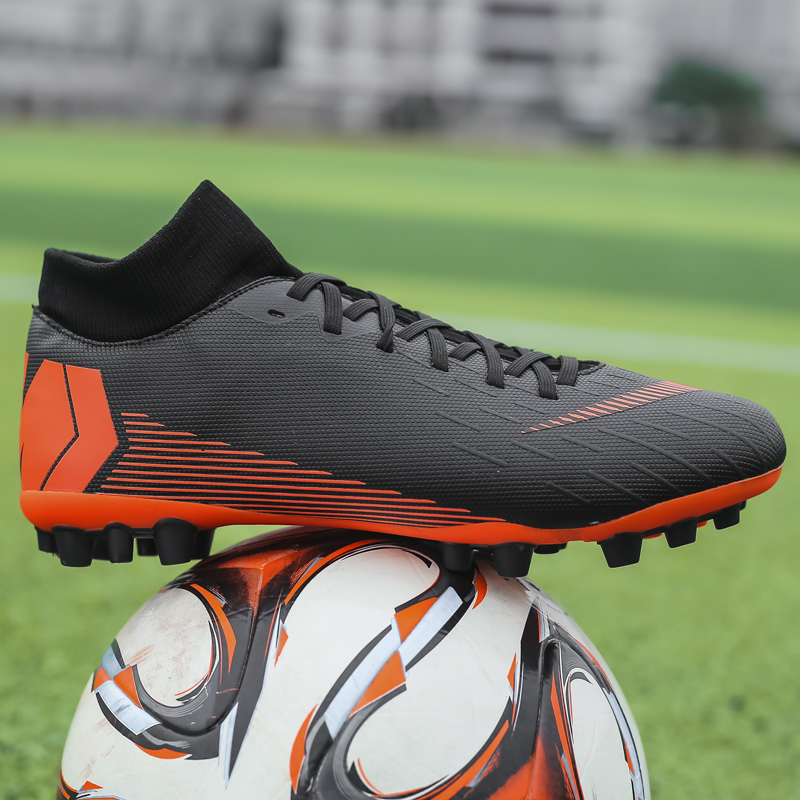 New Kids Outdoor Hard Groud Hg Soccer Shoes Men Waterproof Wear-resistant Professional Training Novice Socks