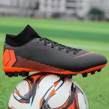 New Kids Outdoor Hard Groud Hg Soccer Shoes Men Waterproof Wear-resistant Professional Training Novice Socks