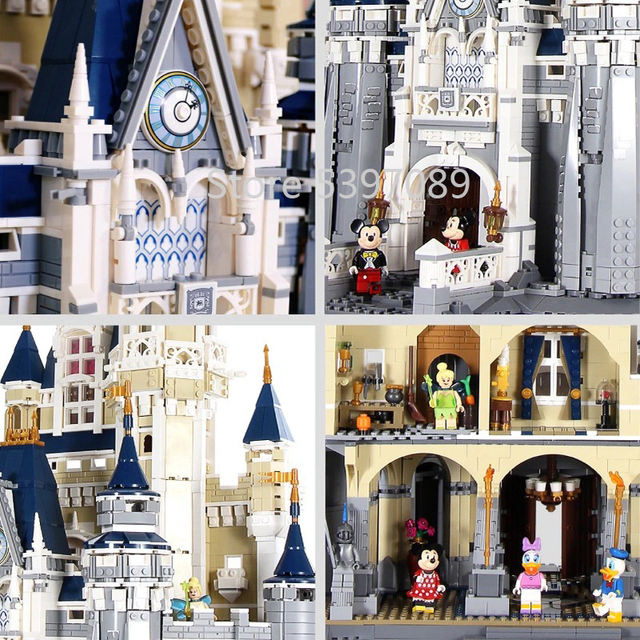 W magazynie klocki klocki 16008 kompatybilne z Legoinglys Disneys Castle 71040 zabawki prezenty dla dzieci