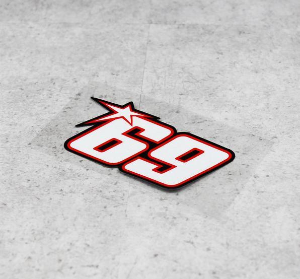 3 цвета Ники Хэйден № 69 стикеры мотогонок наклейка superbike Мотокросс наклейки шлем светоотражающий автомобилей - Цвет: as picture