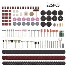 Novo 225 pçs multifuncional moedor acessórios kit ferramenta rotativa elétrica para moagem de polimento perfuração corte acessórios kit