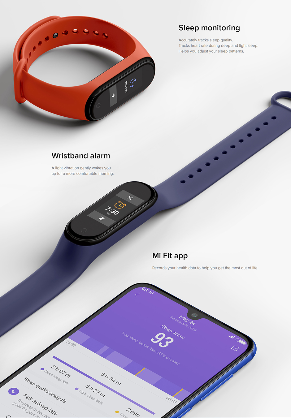 H8176cf8e3be64a2e803934531239a0044 Xiaomi Mi Band 4 Smart Bracelet 3 Color Miband 4 Smartband AMOLED Screen Fitness Traker Bluetooth Sport Waterproof Smart Band