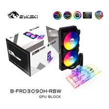 BYKSKI GPU blok wodny do AIC NVIDIA GeForce RTX 3080 3090 edycja referencyjna z 240mm grzejnik/pompa/2 szt. Wentylator A-RGB LED Light