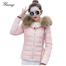 YMING חורף נשים למטה מעילי אופנה מעיל חם Parka נתיק סלעית כותנה מעיל המשאף מעילים נקבה להאריך ימים יותר בגדים