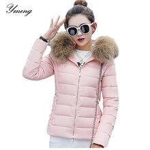 Yming Winter Vrouwen Down Jassen Mode Jas Warme Parka Afneembare Capuchon Katoenen Jas Puffer Jassen Vrouwelijke Uitloper Kleding