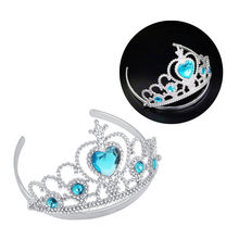 Girl Queen Princess Crown Crystal Tiara Halloween Cosplay Holiday Party Gifts Fashion Toys Beauty Accessiories Hair Jewelry(China)