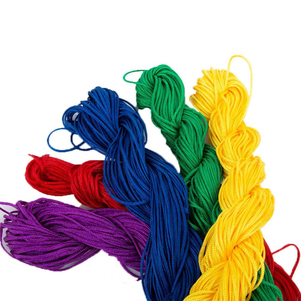 1mm * 23m DIY cuerda de Nylon hilo trenzado Hilo para brazalete de nudo chino cincha hilo