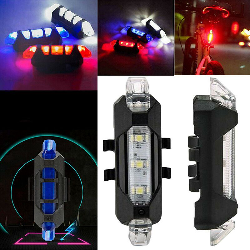 Outdoor Sport Bicycle Usb Rechargeable Waterproof Taillights Mountain Bike Riding LED Warning Light Riding Equipment Accessories