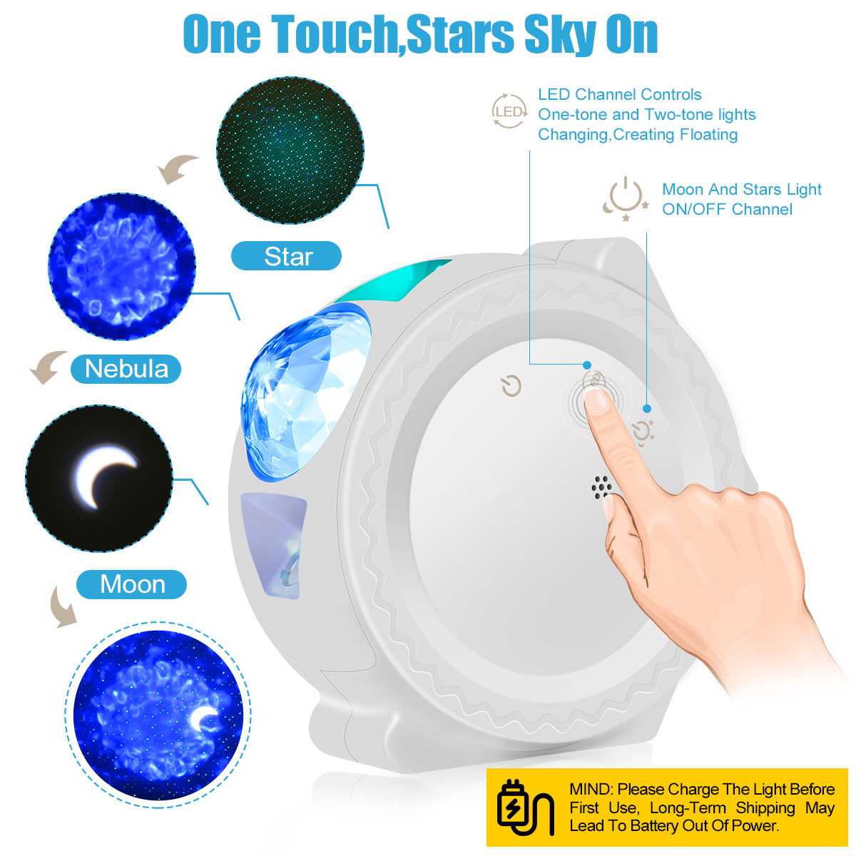 Starry Sky Projector Night Lamp - Beyond Baby Talk