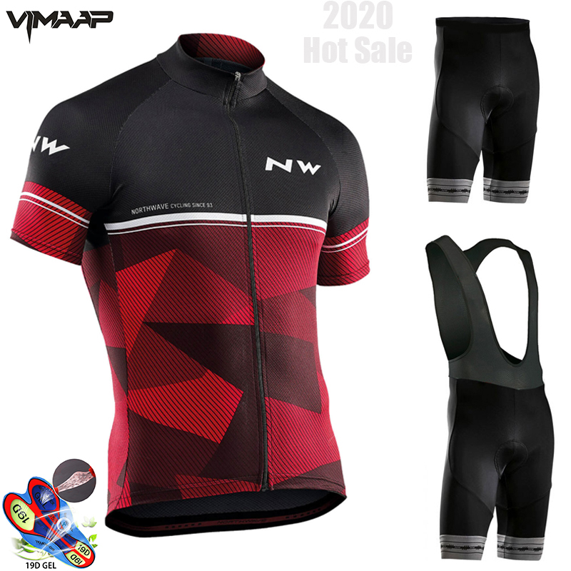 Summer 2019 NORTHWAVE Team Cycling JERSEY Quick Dry Ropa Ciclismo Mens Bicycle Clothing GEL Breathable Short Bib Sets