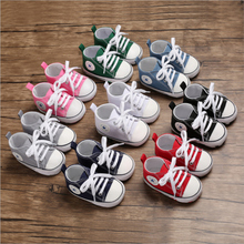 2020 New Baby Toddler Boys Boys Girls Crib Shoes Canvas Tennis Shoes Kids Non-Skid Soles Lace Up Sneaker cheap Emmababy Fits true to size take your normal size All seasons Butterfly-knot Lace-Up Unisex Print COTTON