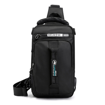 Multi-Function Sling Chest Bag With USB Charging Port Men Women Hiking Backpack Cross-Body Shoulder Fanny Pack Tote Handbags