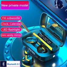 Écouteurs sans fil Bluetooth 5.1 9D TWS, oreillettes de sport étanches, casque d'écoute HD, appel