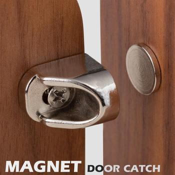 Drzwi magnetyczne złap okucia meblowe silne magnesy do mebli stopery do drzwi super mocny zamek magnetyczny neodymowy tanie i dobre opinie NONE CN (pochodzenie) Maszyny do obróbki drewna M00077 Łapie drzwi i drzwi bliżej zinc apploy and Iron Nickel Strong
