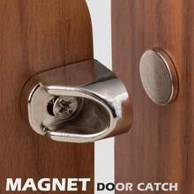 furniture fittings zinc alloy and iron metal Nickel color strong magnets furniture door super powerful neodymium magnet latch(China)