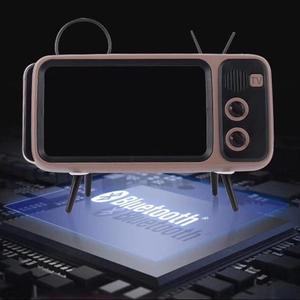 Image 3 - Retro Radio Speaker, Portable FM Speaker with BT AUX FM Function, Stereo Sound, TF Card Slot, Super Bass Speaker Phone Holder