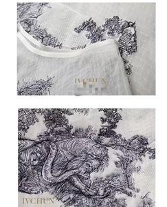 Image 3 - 新しいivchunオートクチュールガウンライオン動物刺繍ネット糸シルク裏地スカート