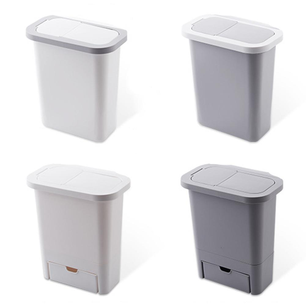 Hanging Trash Can Small Kitchen Garbage Can Waste Bin With Lid For Kitchen Cabinet Door Bedroom Cabinet Doors Waste Bins Aliexpress
